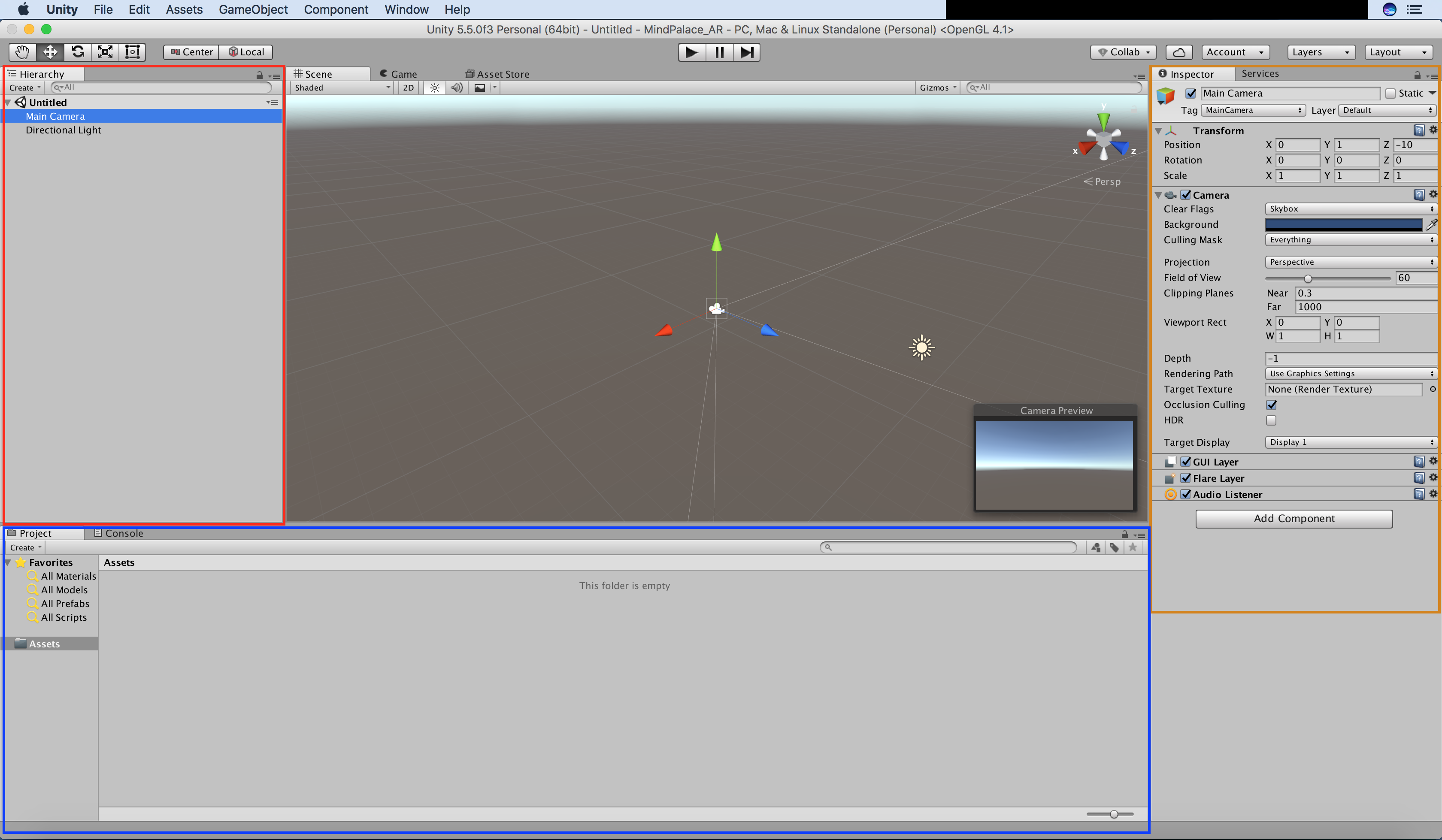 Picture of Familiarizing With the Unity Environment