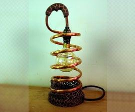 Copper Coil Voronoi Lamp  (B22 Bayonet) (Fusion 360) (Meshmixer)