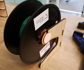 Laser Cut 3D Printer Spool Holder