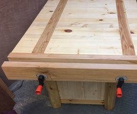 Woodwork Bench Vise From Scrap