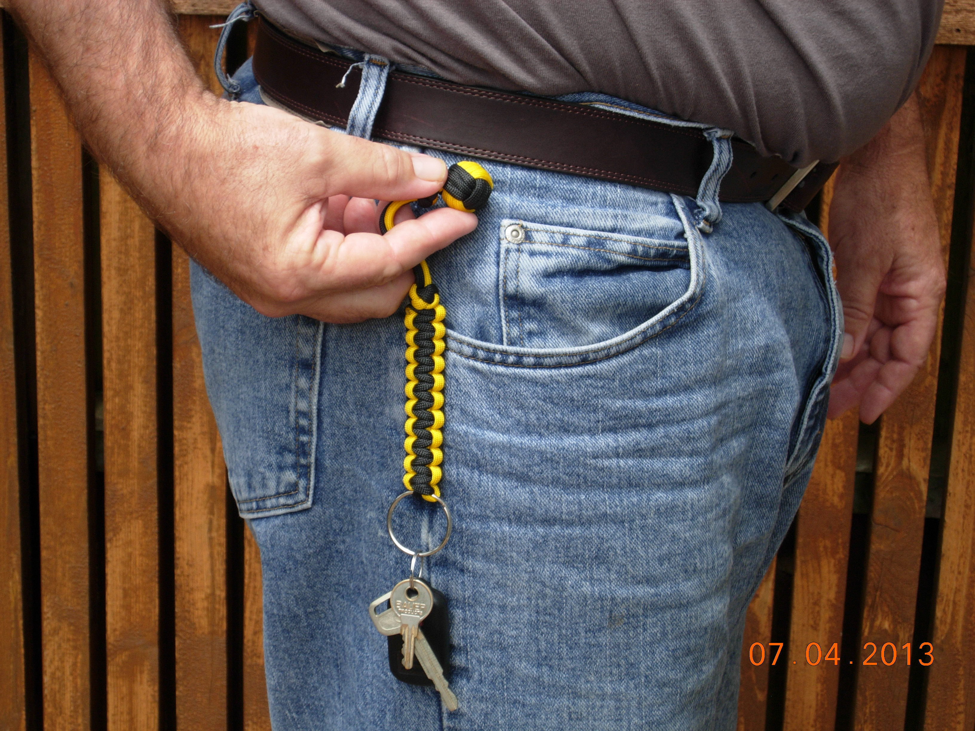 Picture of Two Color Monkey Fist Key Fob