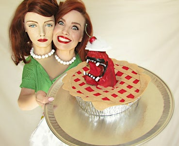 Betty Shocker Two Headed Housewife and Pie Monster Prop