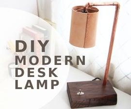 Copper & Walnut LED Desk Light