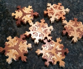 Wooden Snowflake Puzzle Stockingstuffers
