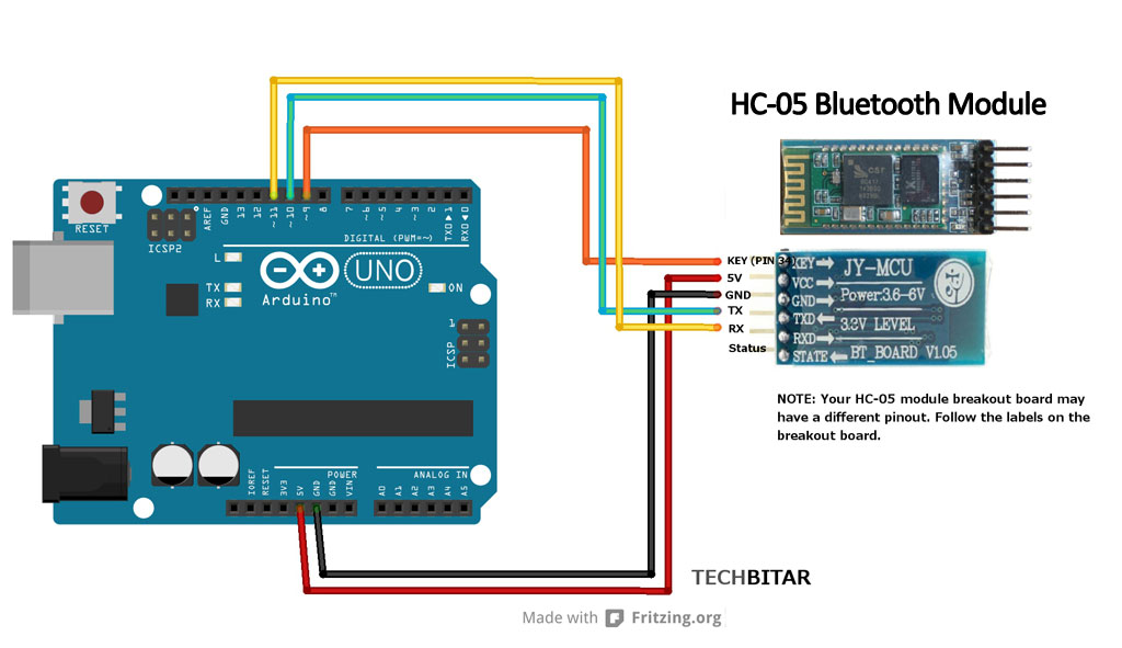 Modify the HC-05 Bluetooth Module Defaults Using AT Commands: 4 Steps