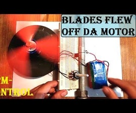 Effective Speed Control Circuit for a DC Motor (Blades Fly) :
