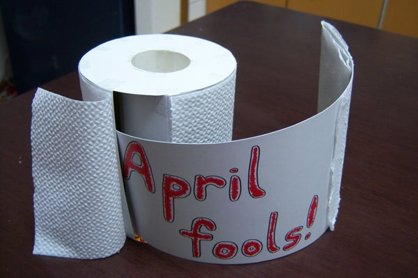 Fake Toilet Paper Roll