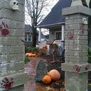 Halloween Cemetery Entry Pillars