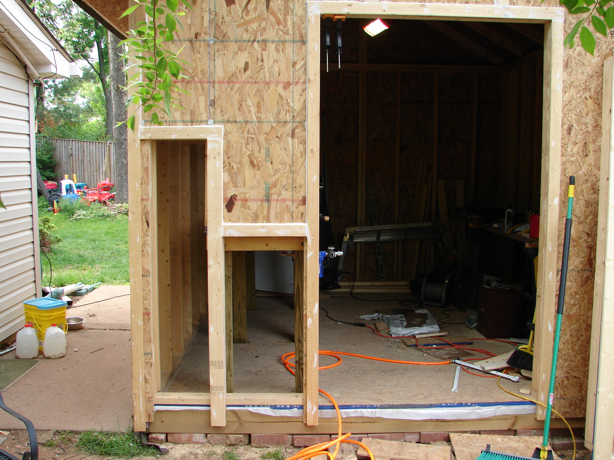 Picture of Doors, Wood Storage and My Workbench.