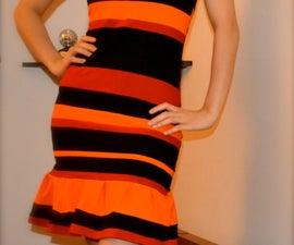 T-shirt reconstruction inspired by Prada Spring Summer 2011 Striped dress