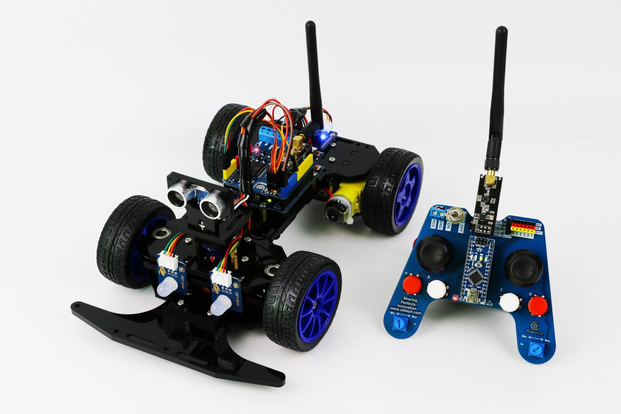 Picture of Adeept Remote Control Smart Car Kit  for Arduino