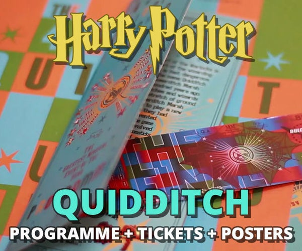 Quidditch Programme + Tickets + Posters