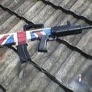 Paint british flag on airsoft unit
