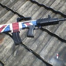 Paint british flag on airsoft unit