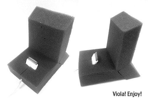 IPhone Stand Using Foam Block