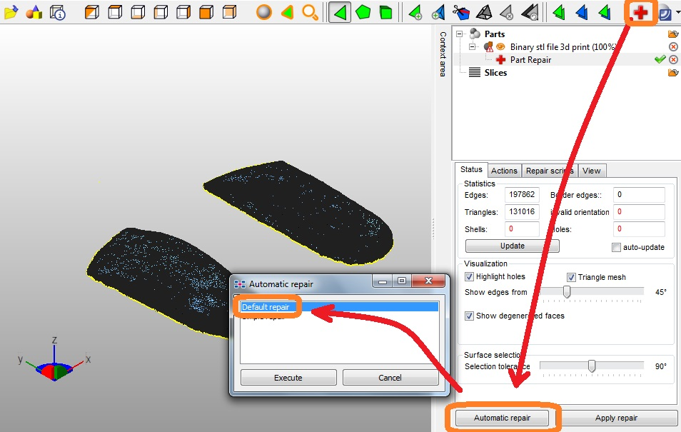 Picture of Filling Print With Netfabb