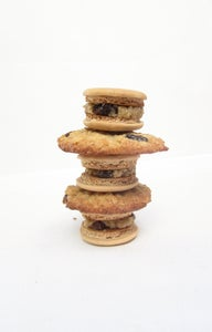 Oatmeal Cookie Dough Filled Macarons