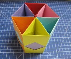 Colourful Hexagonal Pen Holder From Paper