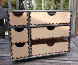 Computer case drawer unit