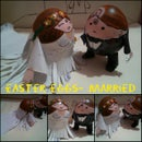 easter eggs- wedding couple