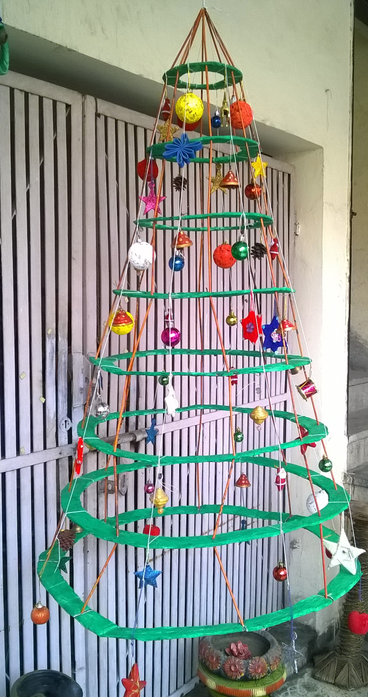 Picture of Best Out of Waste Cardboard Christmas Tree