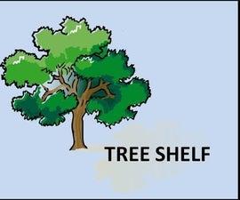 Rustic tree shelf