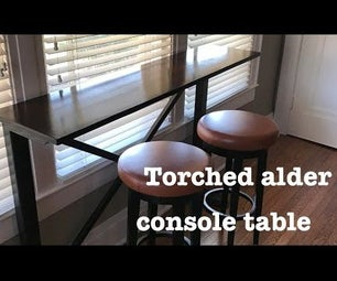 Torched Alder Console Table