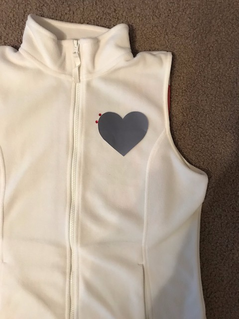 Picture of Glue the Red Embellishment Jewels Onto the Vest