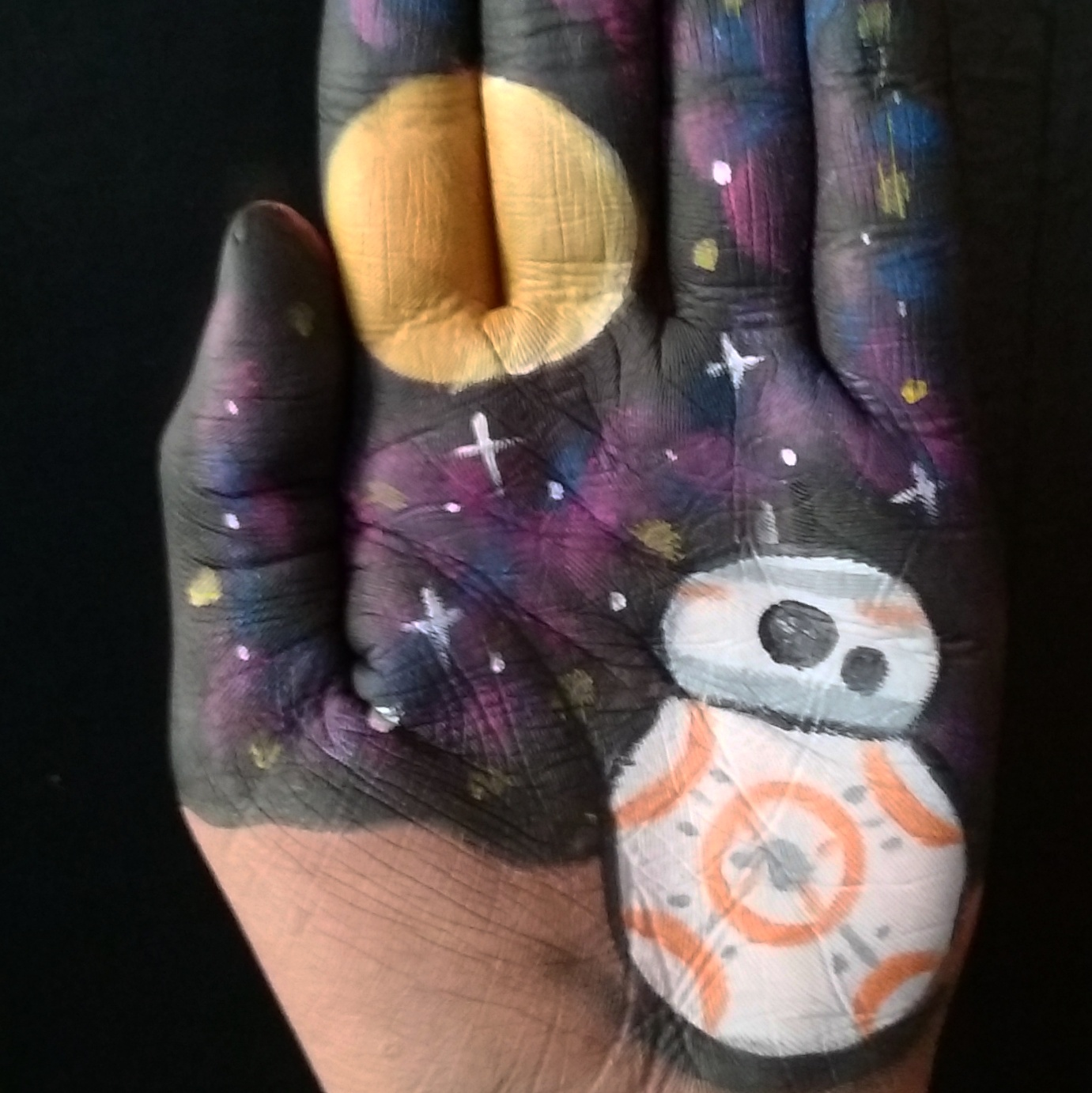 Picture of BB8 Hand Art (Star Wars)