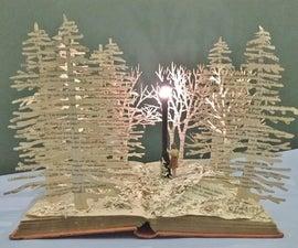 Narnia Book Sculpture