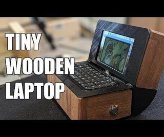 Tiny Wooden Laptop
