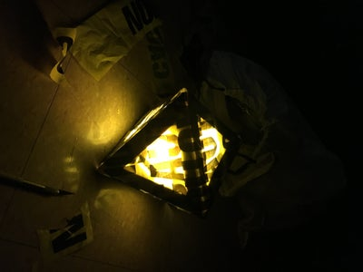 $1 Caution Tape Lamp
