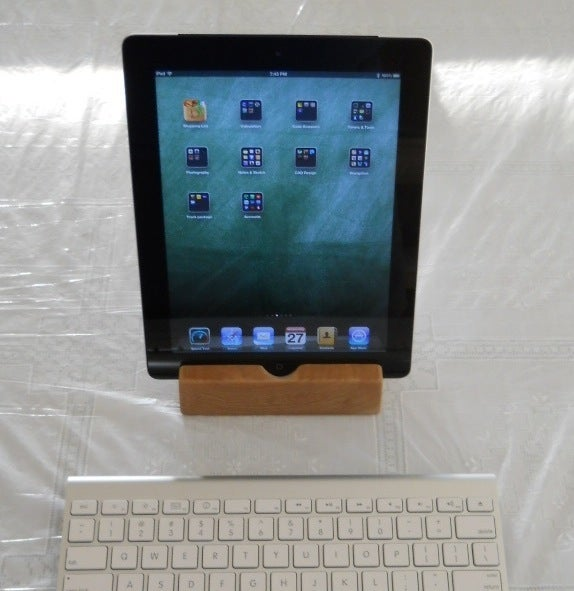 Cherry Wood Ipad Docking Stand 23 Steps With Pictures Instructables