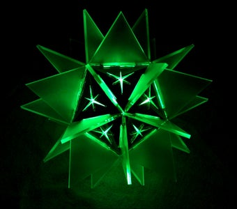 3D Laser Cut LED Star