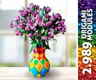 WATERPROOF Rainbow Origami Vase