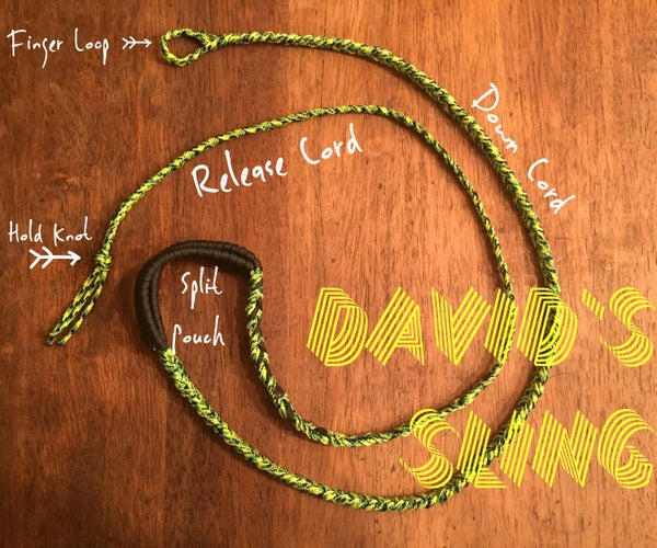 """How to Make a Paracord """"David's Sling"""""""