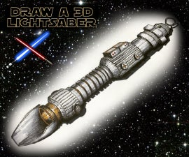 Draw a 3D Lightsaber - Tips and techniques to creat a 3D realistic lightsaber drawing