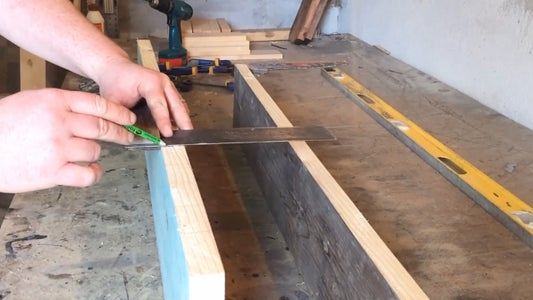 Joining the Wood for the Bench Top.