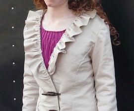 Fleece-lined blazer, earmuffs, and hand warmer