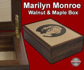 Marilyn Monroe Walnut & Maple Box