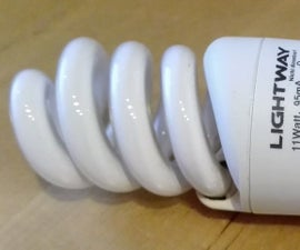 Reuse Parts of an Energy Saving Lamp