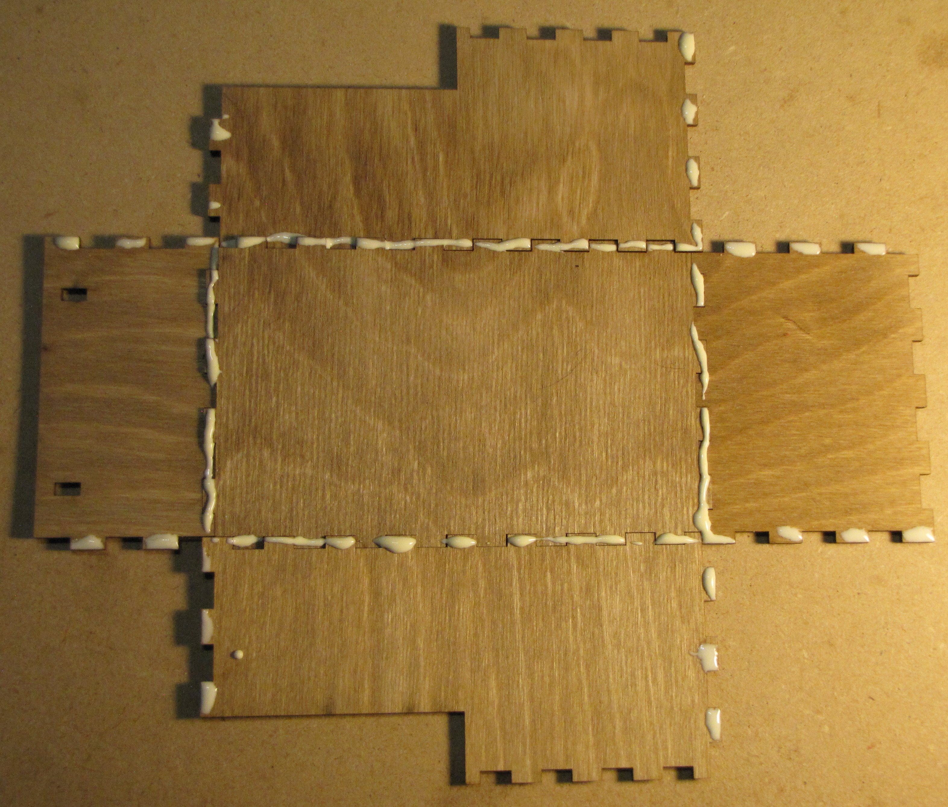 Picture of Layout, Glue and Assemble the Lower Box