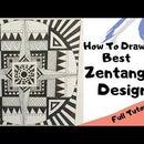 How to Draw Best Complex Zentangle Design