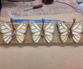 Butterfly Coat Rack from off cuts