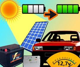Solar Car Charger in Dashboard