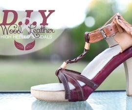 DIY Wood High Heel Sandals