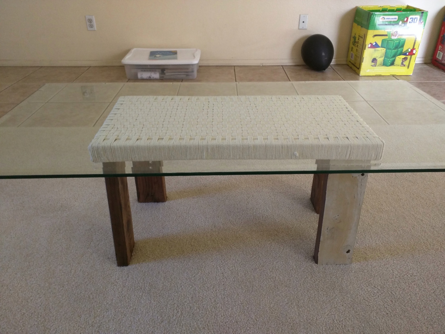 Picture of Woven Top Coffee Table From Scrap