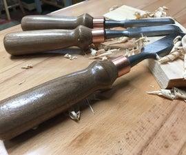 Walnut Handle Chisel Set