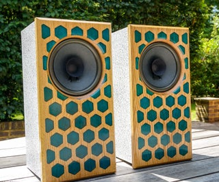 Honeycomb HiFi Speakers With Stone Effect Cabinets