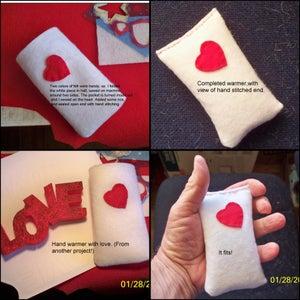 A Heart Themed Hand Warmer